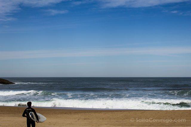 Francia Biarritz Playa Surfer Tabla