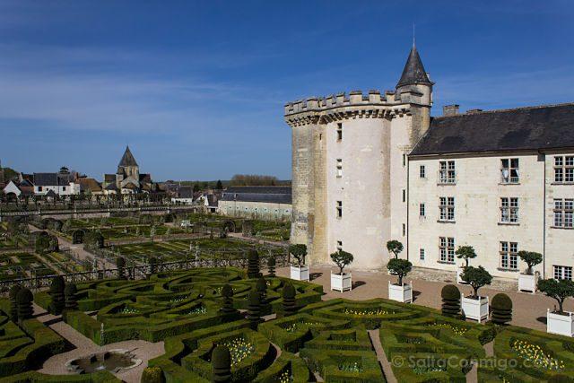Francia Valle Loira Castillo Villandry Jardin Torre