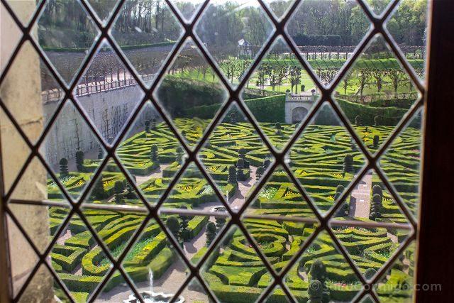 Francia Valle Loira Castillo Villandry Jardin Ventana
