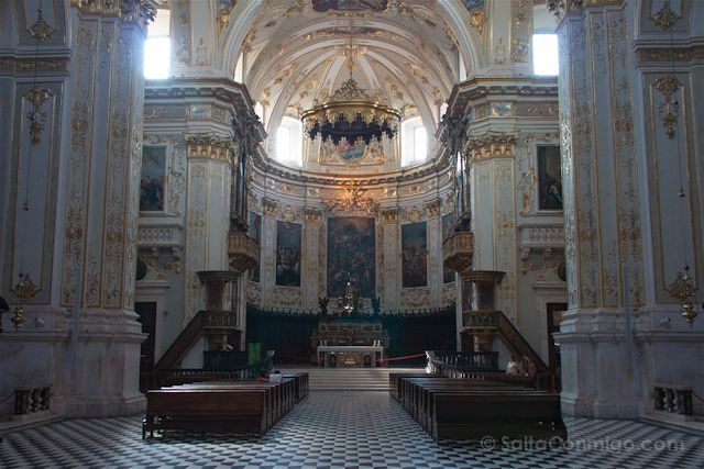 Italia Bergamo Basilica Santa Maria Mayor Interior