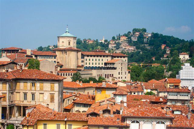 Italia Bergamo Panorama Ciudad Alta Torre Civica