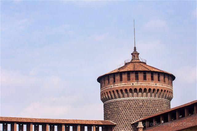 Italia Milan Castillo Sforzesco Torre