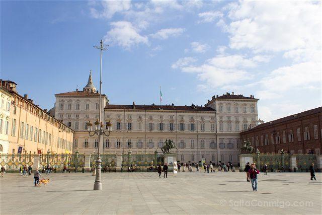 Italia Turin Piazza Castello Palacio Real