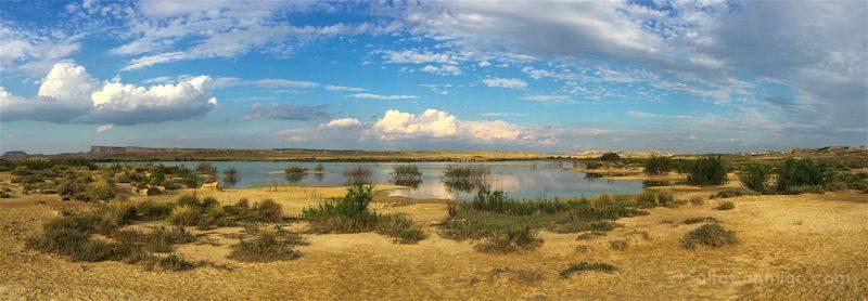Navarra Laguna Bardenas Reales Panorama