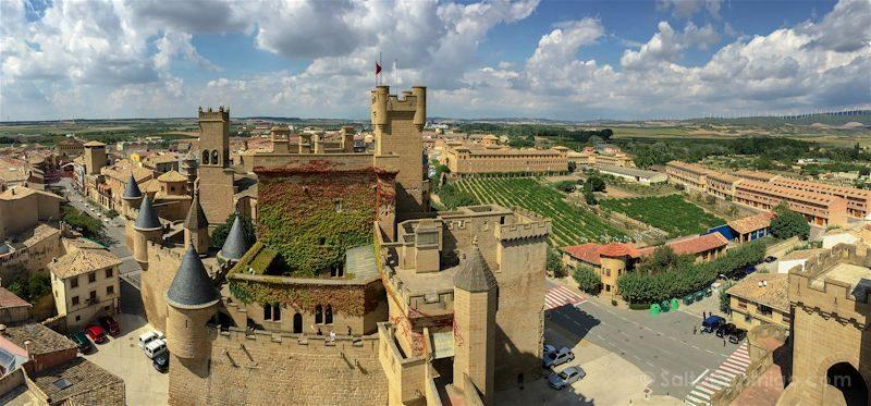 Navarra Palacio Real Olite Panorama