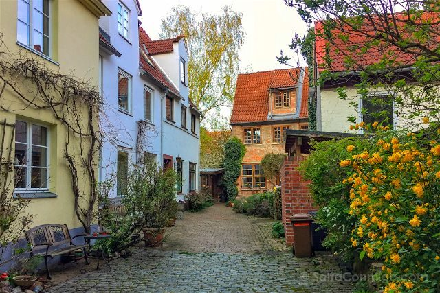 Alemania Lubeck Patio Callejon Blanco