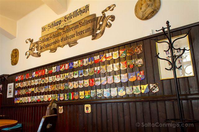 Austria Salzburgo Cerveceria Agustinos Stammtisch Schlappstuberl