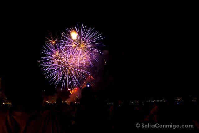 Alicante Fogueres 2016 Castillo Fuegos Artificiales