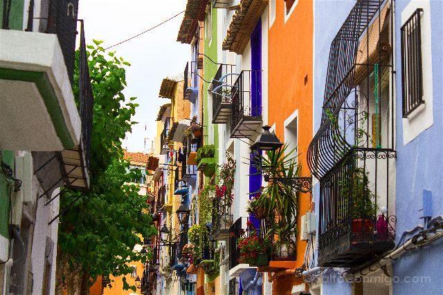 Alicante Vila Joiosa Casas Colores