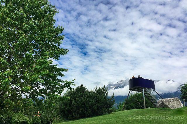 Austria Innsbruck Wattens Mundo Cristal Swarovski Jardin Gigante Mirador