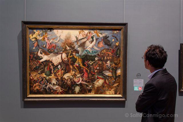 Belgica Bruselas 100masters Musee Old Masters Caida Angeles Rebeldes Pieter Bruegel