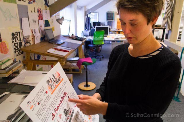 Bruselas Judith Vanistendael Dibujante Comic Estudio Dibujo Retrato