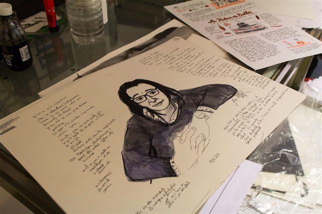 Bruselas Judith Vanistendael Dibujante Comic Estudio Dibujo