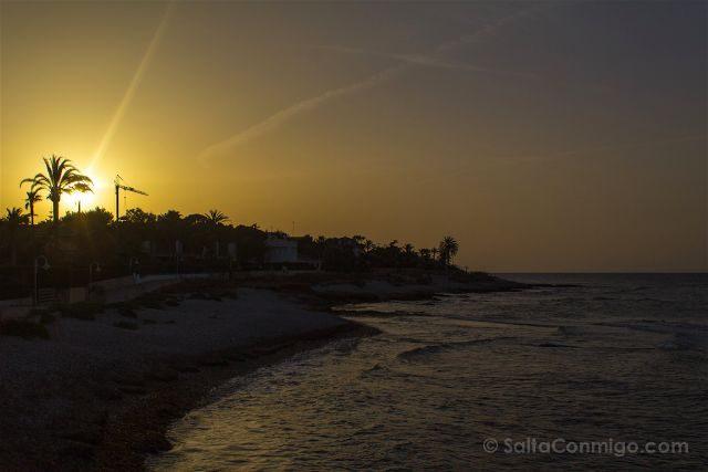Comunidad Valenciana Alicante Denia Calas Rotes Puesta Sol