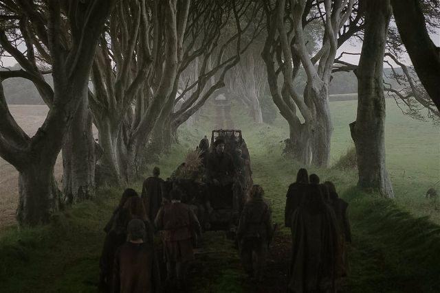 Dark Hedges Game of Thrones Scene HBO