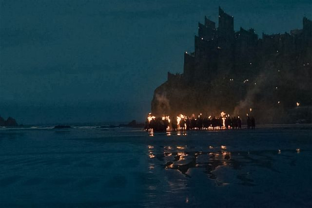 Downhill Beach Game of Thrones Scene HBO