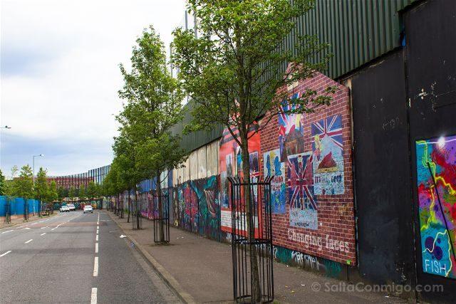 Irlanda Norte Belfast Muro West Belfast