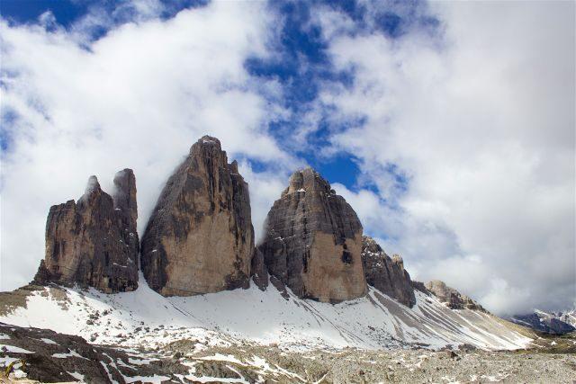 Italia Alto Adige Sudtirol Dolomitas Tre Cime Lavaredo Detalle