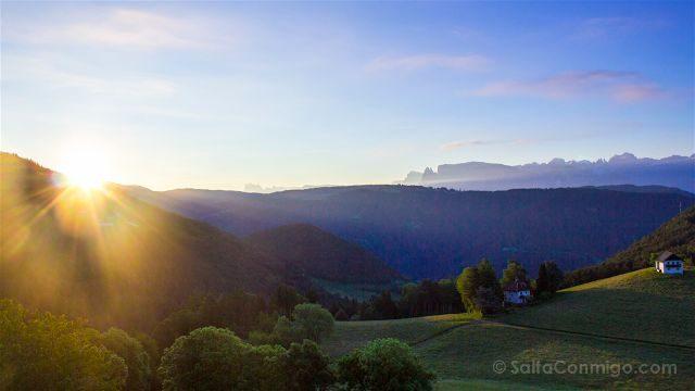 Italia Alto Adige Sudtirol San Genesio Jenesien Amanecer