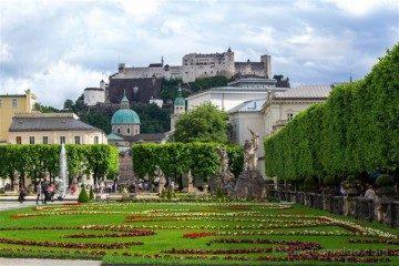 Austria Salzburgo Palacio Mirabell Jardines