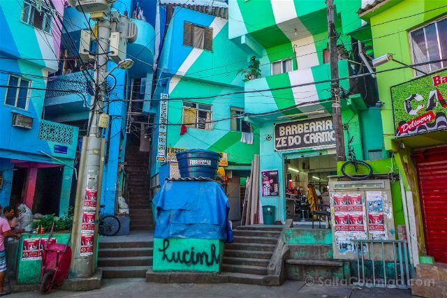 Brasil Rio De Janeiro Favela Santa Marta Praza Cantao