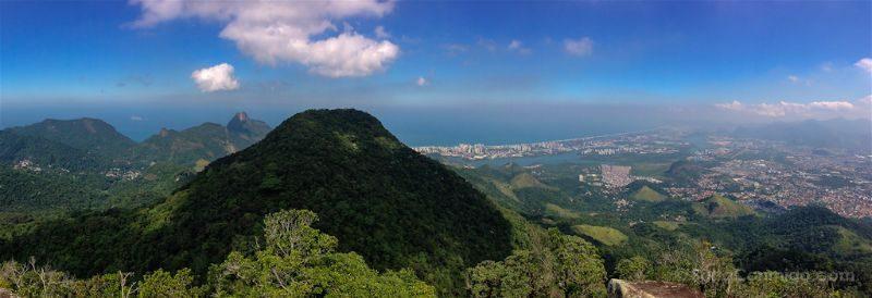 Brasil Rio De Janeiro Miradores Floresta Tijuca Barra