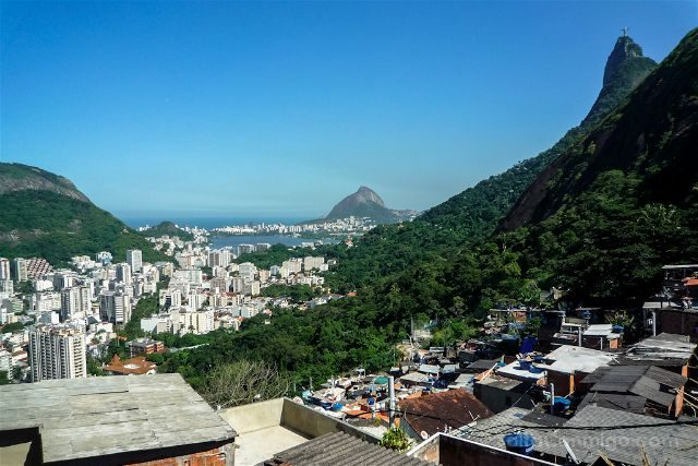 Brasil Rio de Janeiro Favela Santa Marta Arriba Vista Ciudad