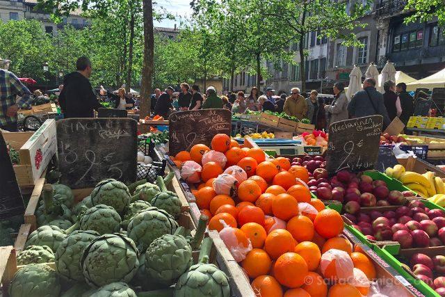 Francia Carcasona Carcassonne Bastida San Luis Place Carnot Mercado