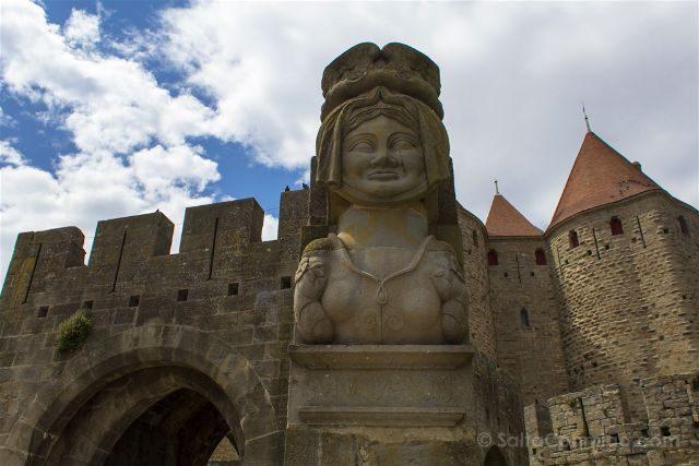 Que ver en Carcasona Carcassonne Muralla Dama Carcas