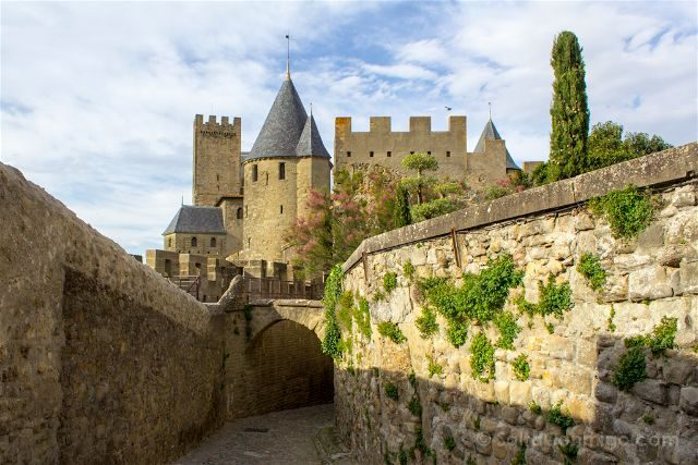Francia Carcasona Carcassonne Muralla Lizas Castillo