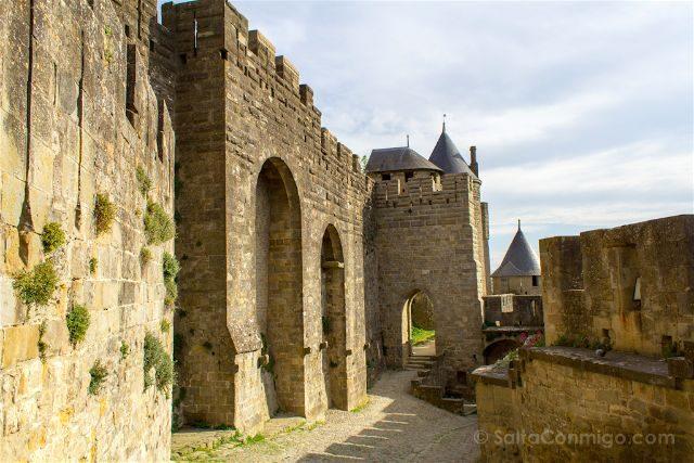 Que ver en Carcasona Carcassonne Muralla Lizas