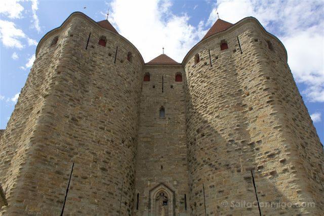 Francia Carcasona Carcassonne Muralla Puerta Narbona