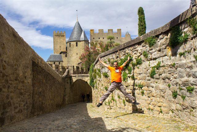 Francia Carcasona Carcassonne Muralla Salto