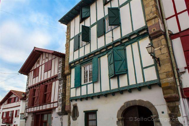 Francia Pais Vasco Frances Iparralde Espelette Casas Caserios
