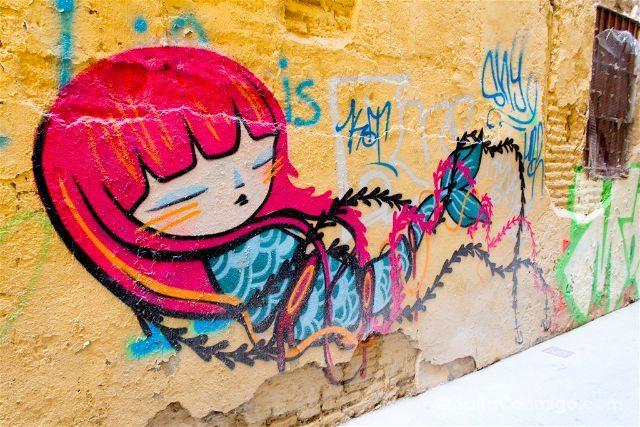 Grafitis Valencia Carrer Salines Julieta XLF