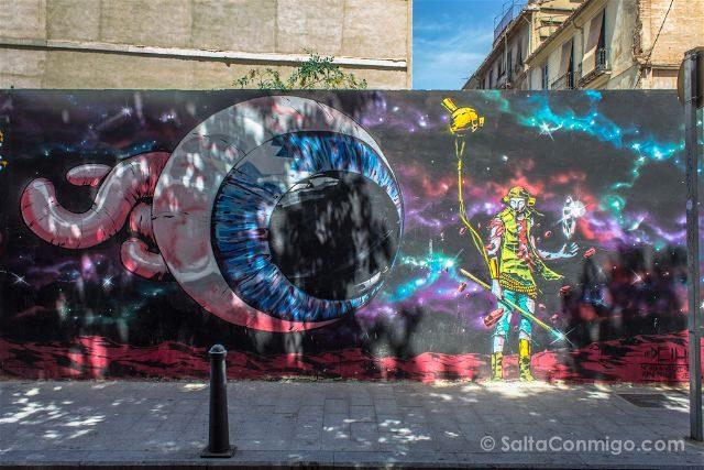 Grafitis Valencia Carrer na Jordana Deih