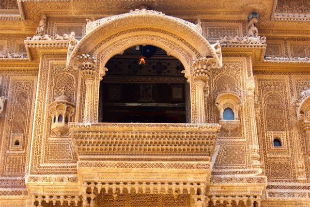 India Rajastan Jaisalmer Nathmal Ki Haveli Detalle