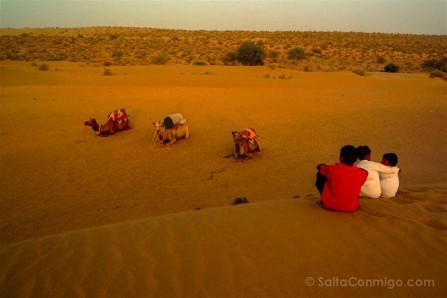 India Rajastan Jaisalmer Puesta Sol