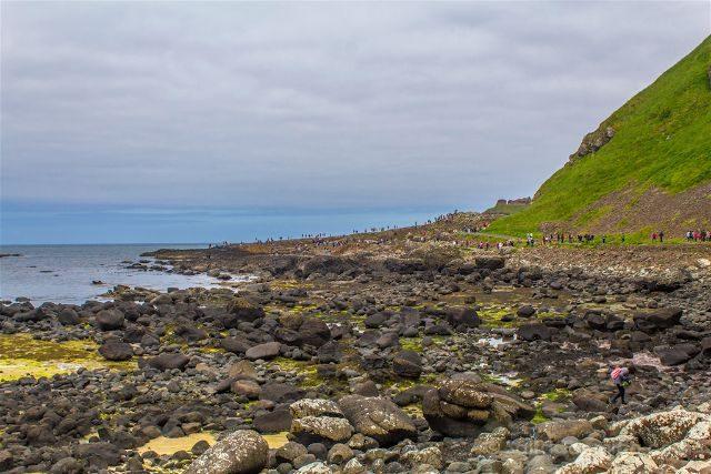 Irlanda del Norte Calzada del Gigante Giants Causeway Abarrotada