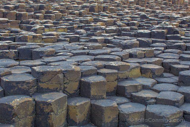Irlanda del Norte Calzada del Gigante Giants Causeway Columnas Basalto