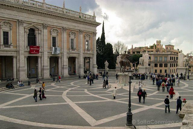Italia Roma Piazza Campidoglio