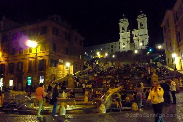 Italia Roma Piazza Spagna Nocturna