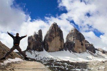 Italia Sudtirol Alto-Adige Tre Cime Lavaredo Salto