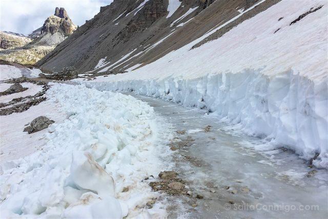 Italia Sudtirol Alto-Adige Trekking Tre Cime Lavaredo Hielo