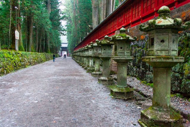 Japon Nikko Santuario Toshogu Tosho-gu Linternas Piedra