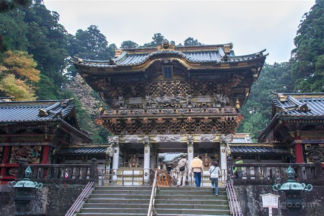 Japon Nikko Santuario Toshogu Tosho-gu Puerta Yomei-mon