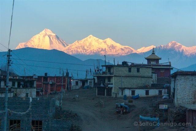 Nepal Annapurnas Muktinath Amanecer