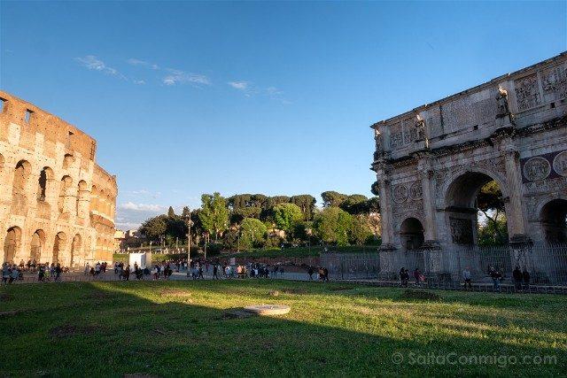 Que ver en Roma Arco Constantino Coliseo