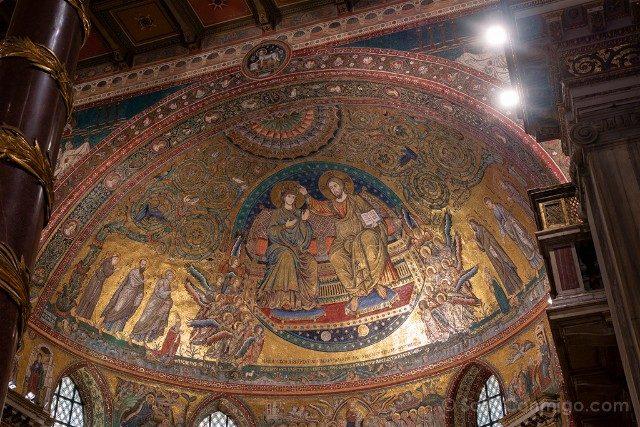 Que ver en Roma Basilica Papal Santa Maria Maggiore Mosaico