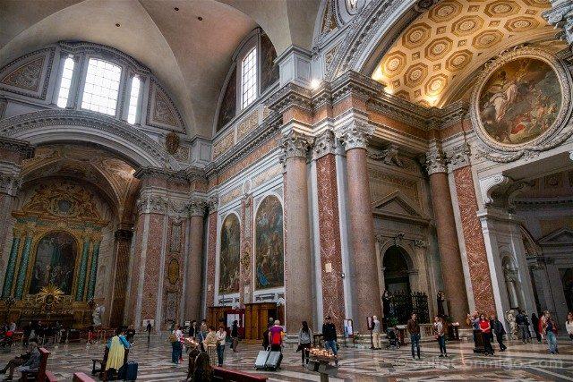 Que ver en Roma Basilica Santa Maria Angeles Martires Interior